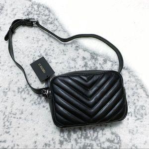 NWT F21 Quilted Chevron Crossbody Fanny Belt Bag